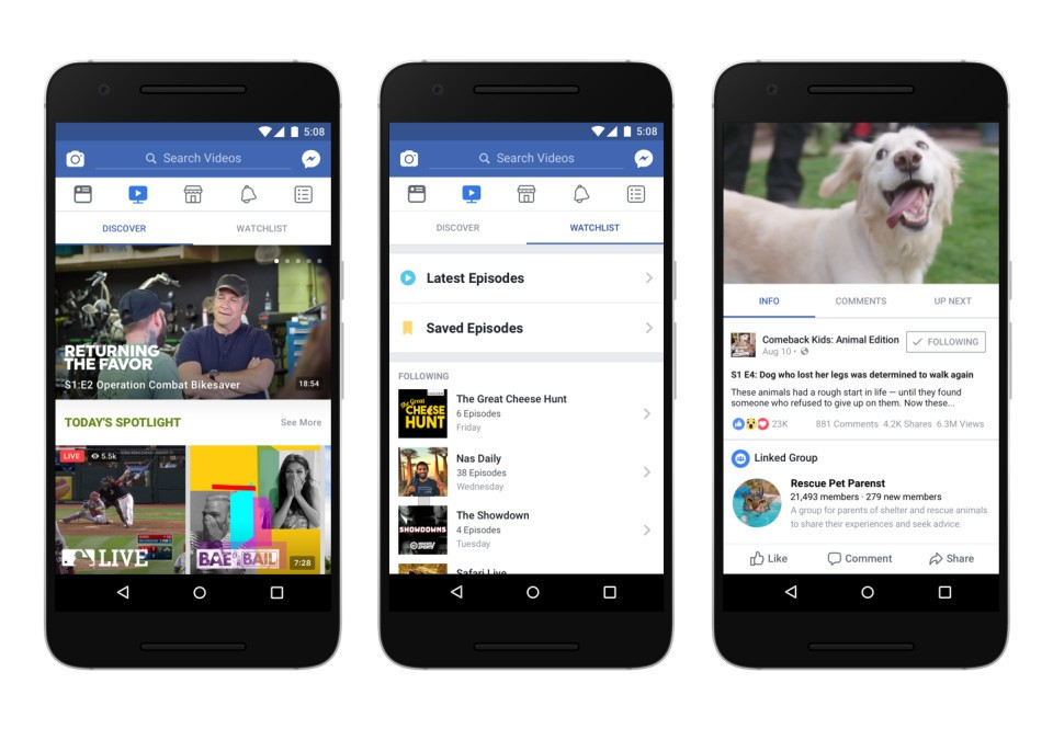 Introducing Facebook's New 'Watch' Video Service