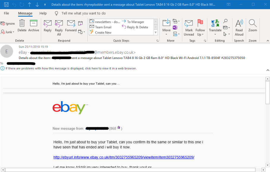 Caught out by a phishing email