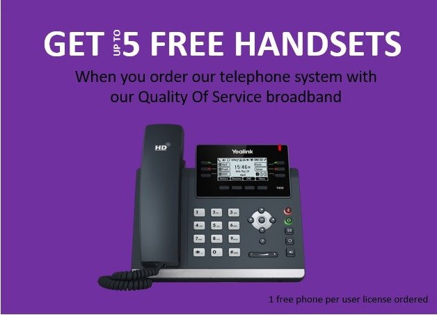 Black Friday Offer: 5 Free Telephone Handsets